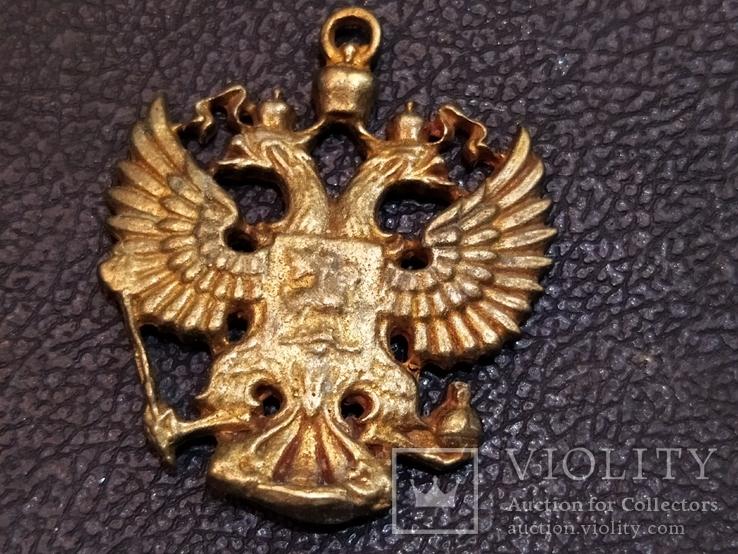 Орел Двухглавый брелок бронза коллекционная миниатюра, фото №2