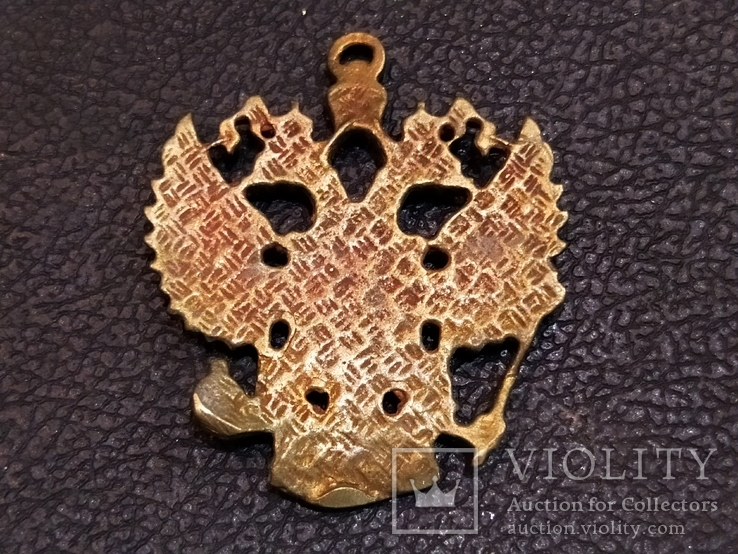 Орел Двухглавый брелок бронза коллекционная миниатюра, фото №5