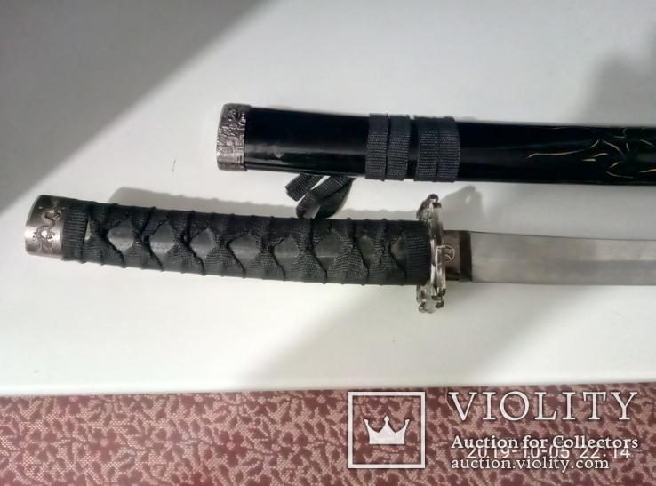 Японский самурайский меч катана со стойкой для меча. Сувенирная сабля., фото №13