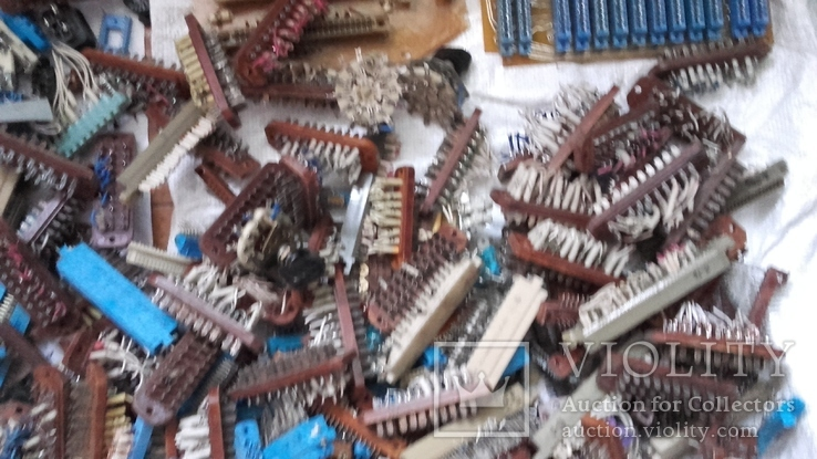 Посеребрянка 11.5 кг,разъёмы,контакты,переключатели и др., фото №4