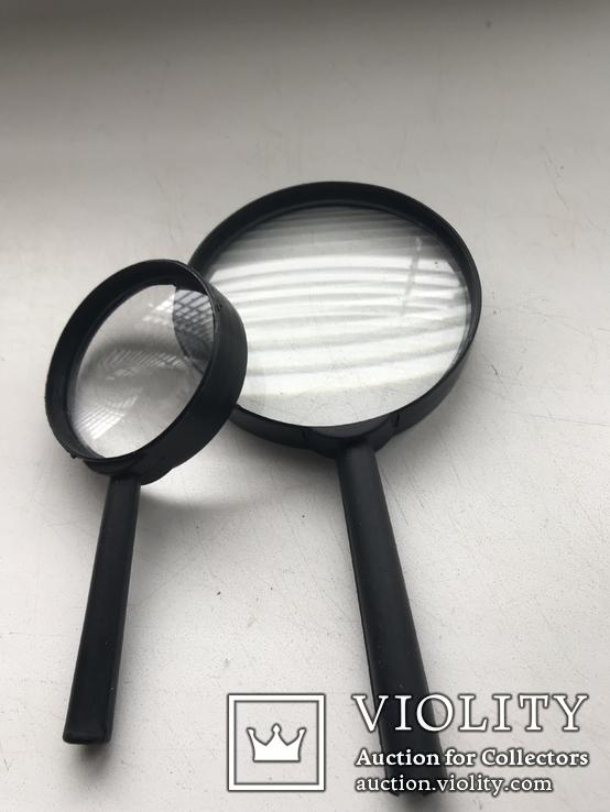 Лупы 2 шт.Увеличительные стекла,для монет, фото №2