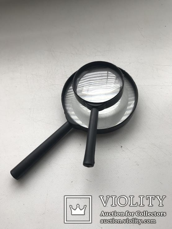 Лупы 2 шт.Увеличительные стекла,для монет, фото №4