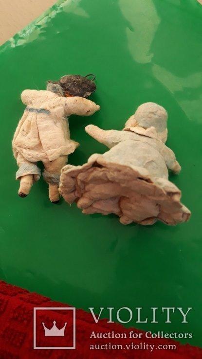 Ёлочная игрушка девочка и мальчик  папье-маше 2 шт, фото №4