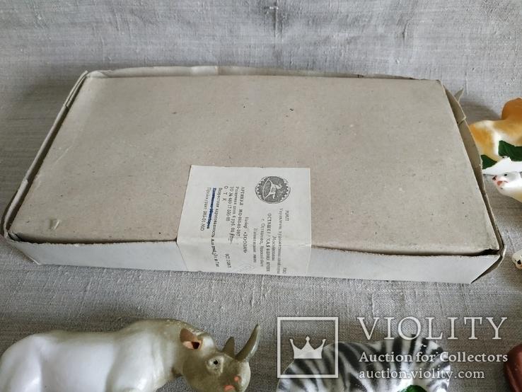 Зоопарк Осташевская фабрика игрушек Саванна СССР полный комплект этикетки коробка, фото №5