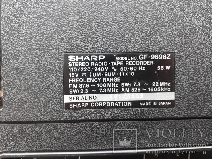 Магнитола SHARP 9696, играет, фото №7