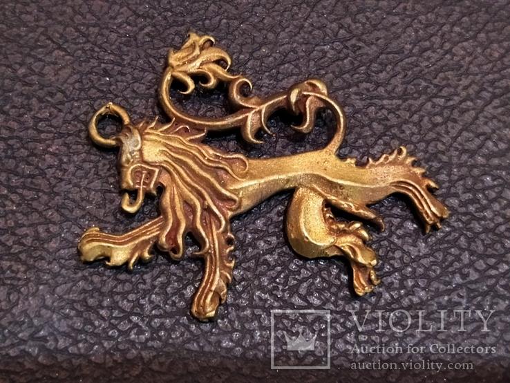 Дракон необычный коллекционная миниатюра бронза, фото №3