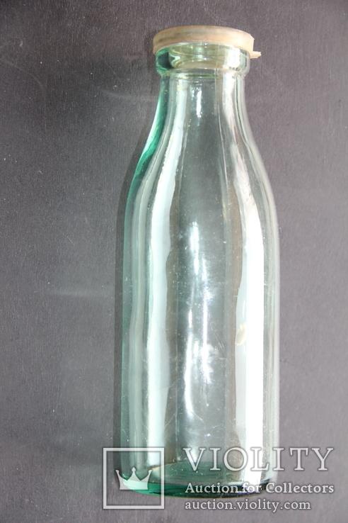 Бутылка из под молока с пробкой. СССР,, фото №3