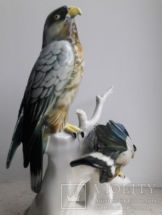 Хищные птицы на ветке, Карл Энс,Karl Ens, Германия, 1930-40 гг, фото №3