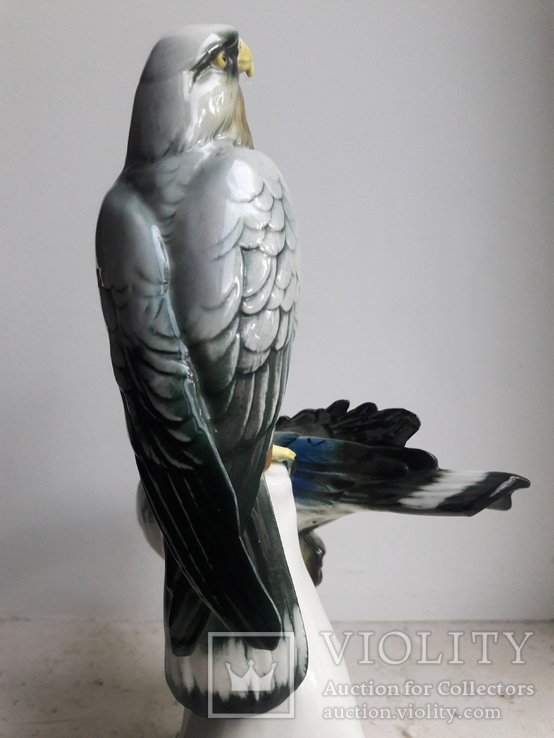 Хищные птицы на ветке, Карл Энс,Karl Ens, Германия, 1930-40 гг, фото №4