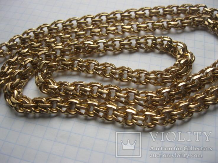 Золотая цепь Бисмарк 583 пробы вес 99.3 гр., фото №3