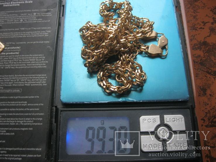 Золотая цепь Бисмарк 583 пробы вес 99.3 гр., фото №8