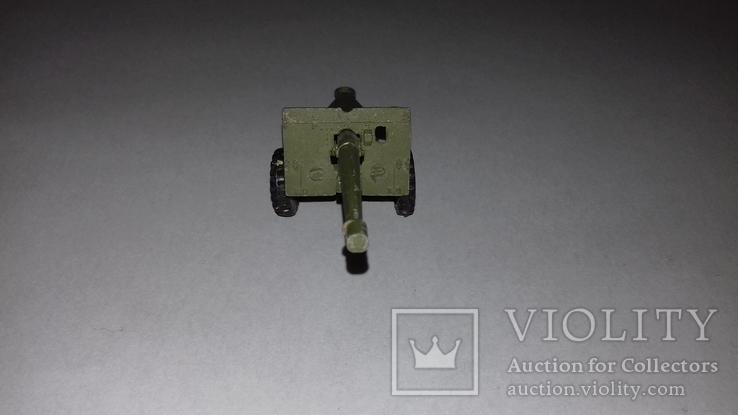 Игрушка СССР Военная техника Пушка полевая, фото №3
