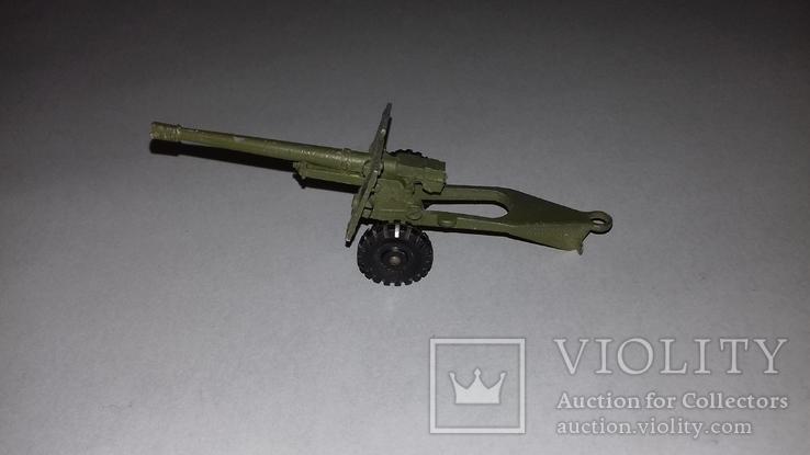 Игрушка СССР Военная техника Пушка полевая, фото №4