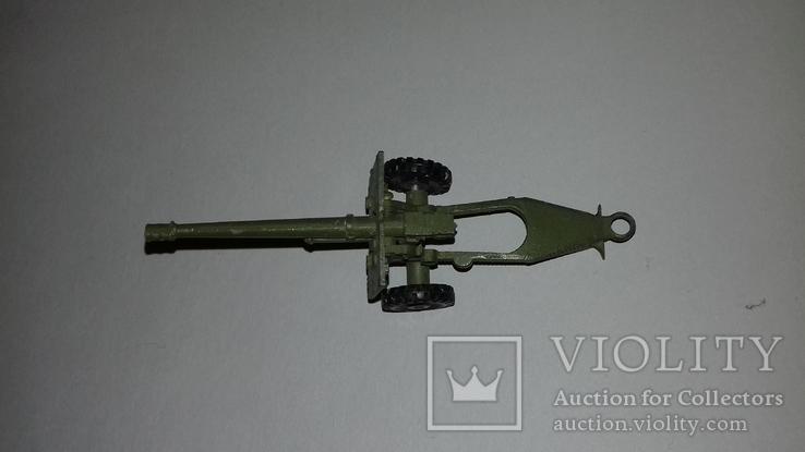 Игрушка СССР Военная техника Пушка полевая, фото №5