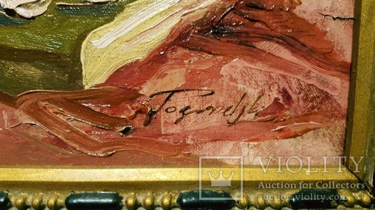 """""""Натюрморт с книгой"""",довоенная работа,х/м.,80×70 см., фото №10"""