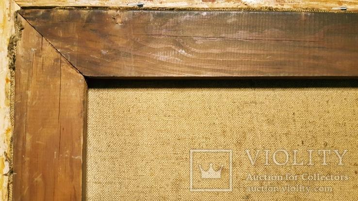 """""""Натюрморт с книгой"""",довоенная работа,х/м.,80×70 см., фото №12"""
