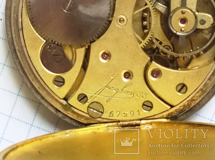 Механизм к старым карманным часам, фото №5