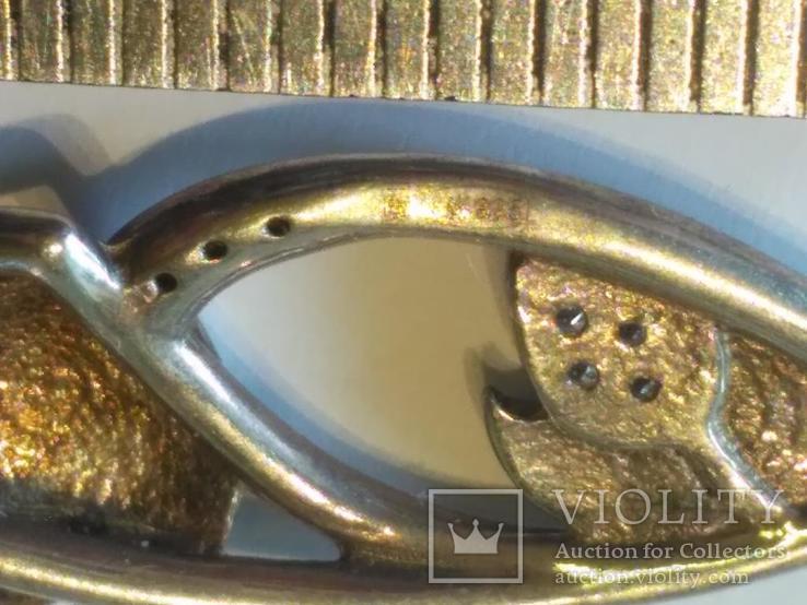 Цепочка + кулон 1 серебро, фото №5