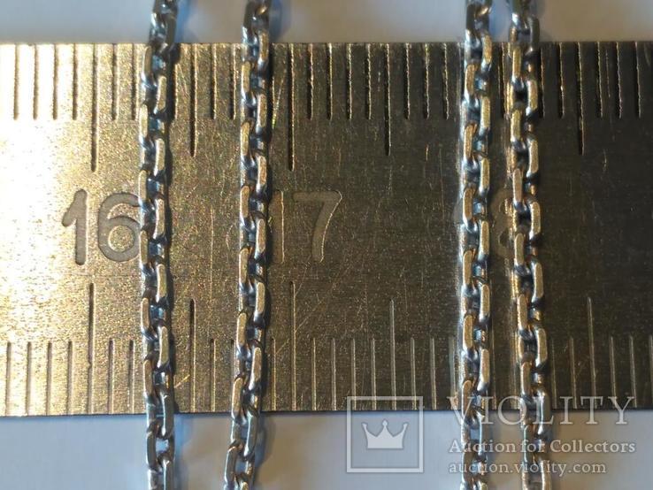 Цепочка + кулон 2 серебро, фото №5