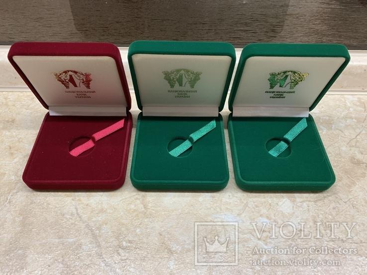 Три коробочки для монет Украины, фото №2