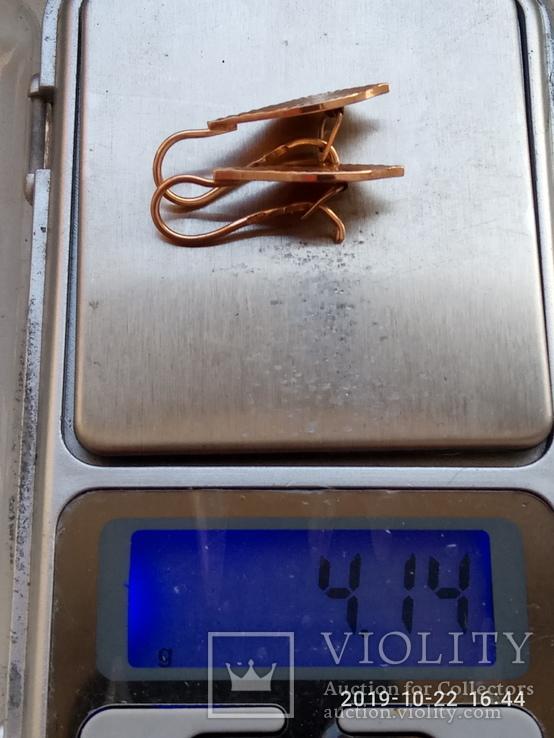 Серьги 4.14 грм., фото №5
