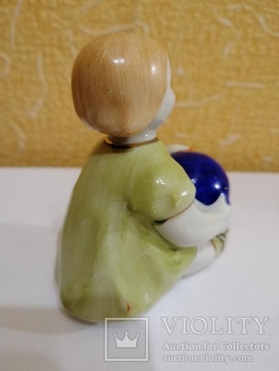 статуэтка девочка с мячом ссср, фото №3