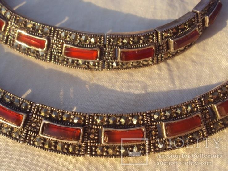 Ожерелье колье серебро, марказиты., фото №6
