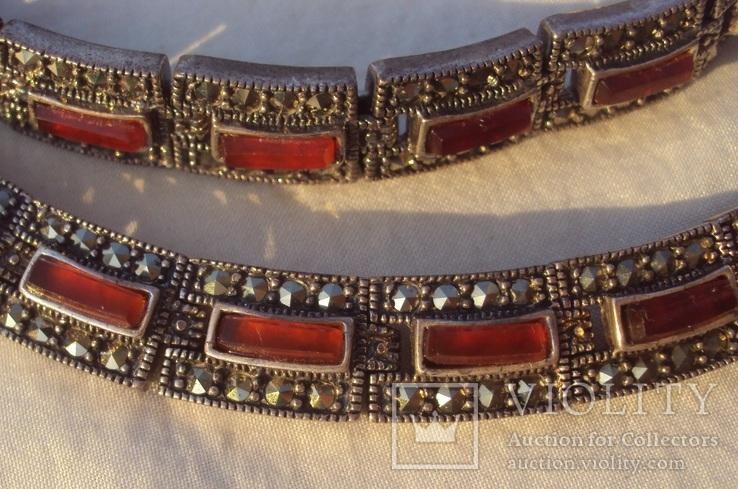 Ожерелье колье серебро, марказиты., фото №7