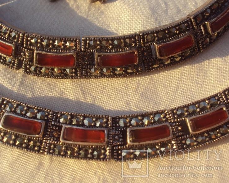 Ожерелье колье серебро, марказиты., фото №8