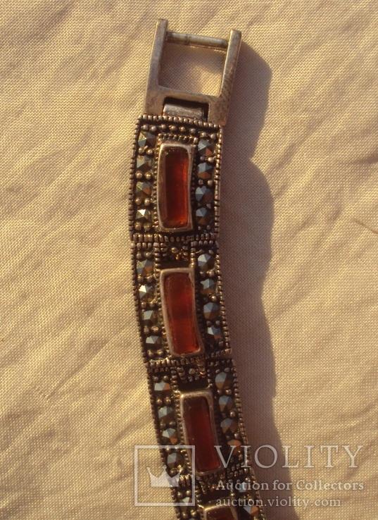 Ожерелье колье серебро, марказиты., фото №10