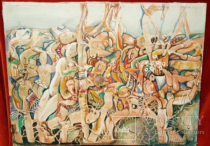 """""""В хаусі"""",96 р.,М.Безпальків,п/темпера,80×60 см."""