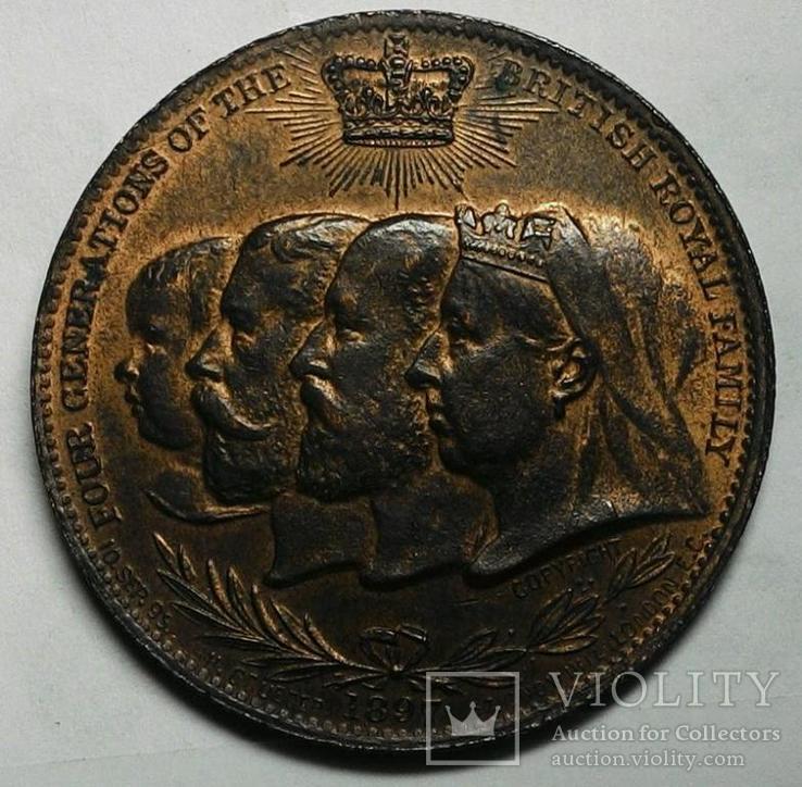 Англия медаль 1897 год, фото №2