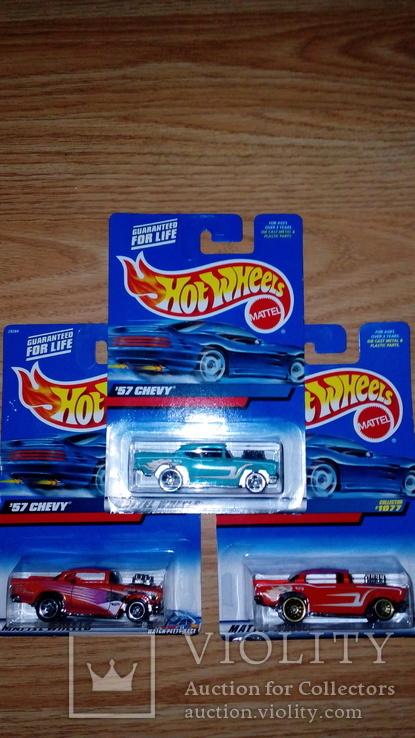 Машинка Хот Вилс Hot Wheels  Шеви 57  3шт. Цветовая гамма, фото №2