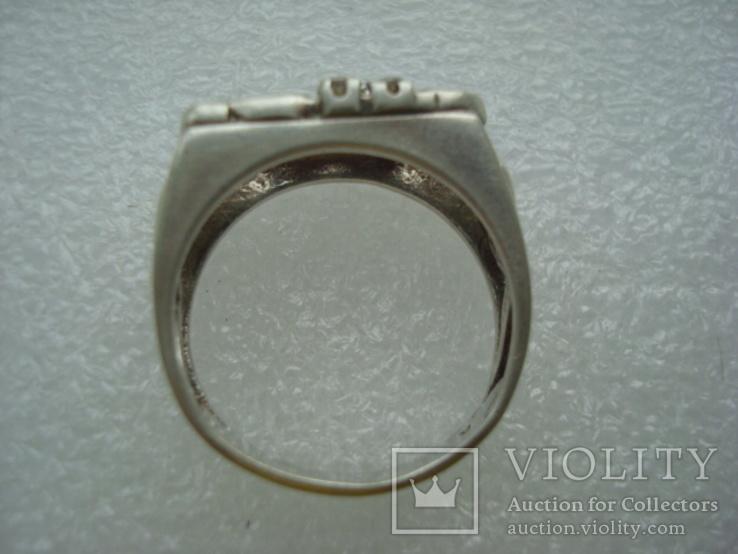 Кольцо серебро 925 18 размер, фото №4