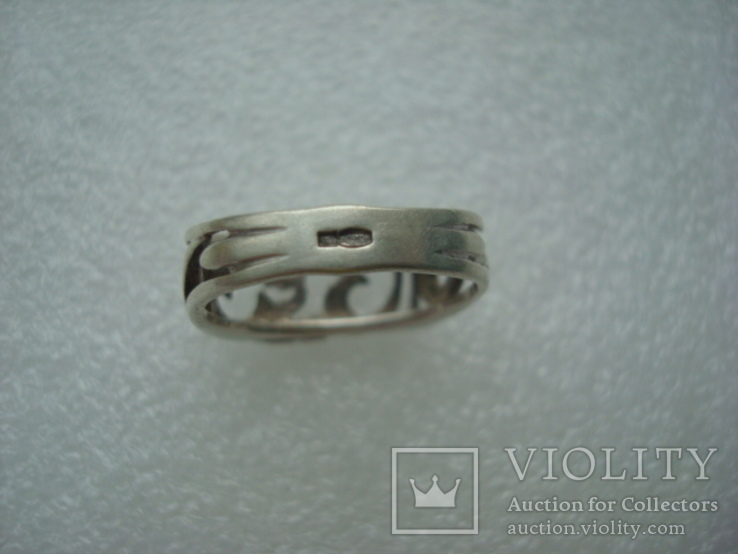 Кольцо серебро 925 18 размер, фото №6