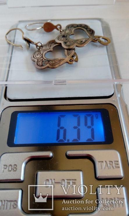 Винтажные серебряные серьги кубачи, фото №3