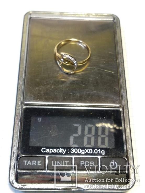 Набор сережки кольцо, Жемчуг, Сапфир, Бриллианты, фото №12