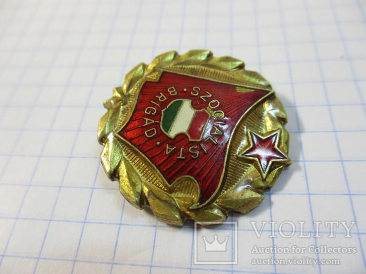 Знак Социалистическая бригада Венгрия, большой, фото №2