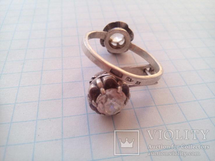 Набор серебро 875пр. камни горный хрусталь, фото №7