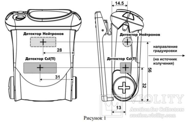 Сцинтилятор Polimaster ИСП-PM1703GNA Радиационный пейджер Дозиметр ФБР RADIATION PAGER, фото №4