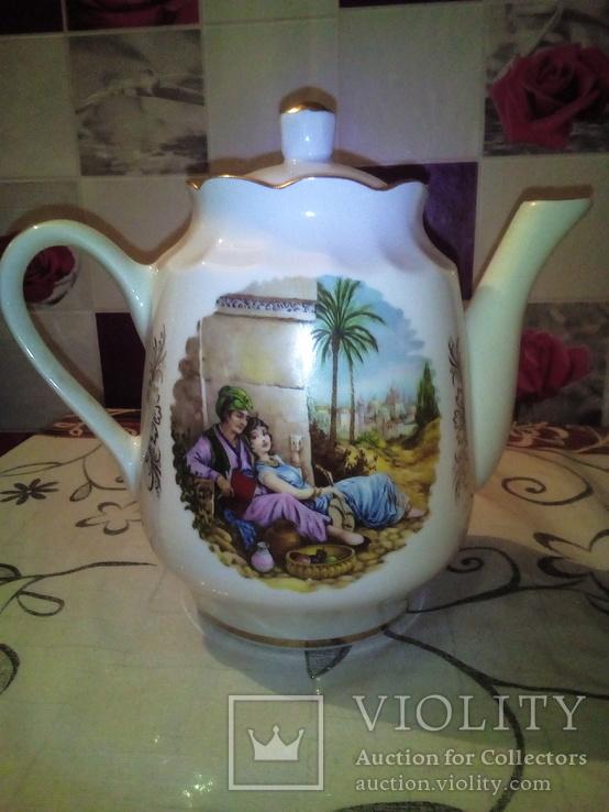 Фарфоровый чайник редкость клеймо., фото №3