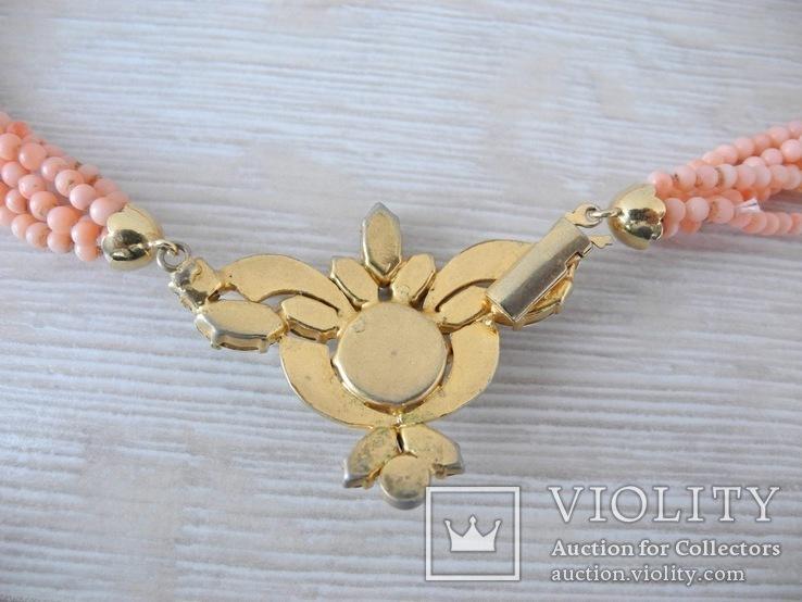 Ожерелье коралл Angel skin вес 34,4 гр, фото №3