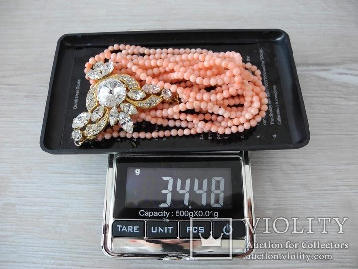 Ожерелье коралл Angel skin вес 34,4 гр, фото №4