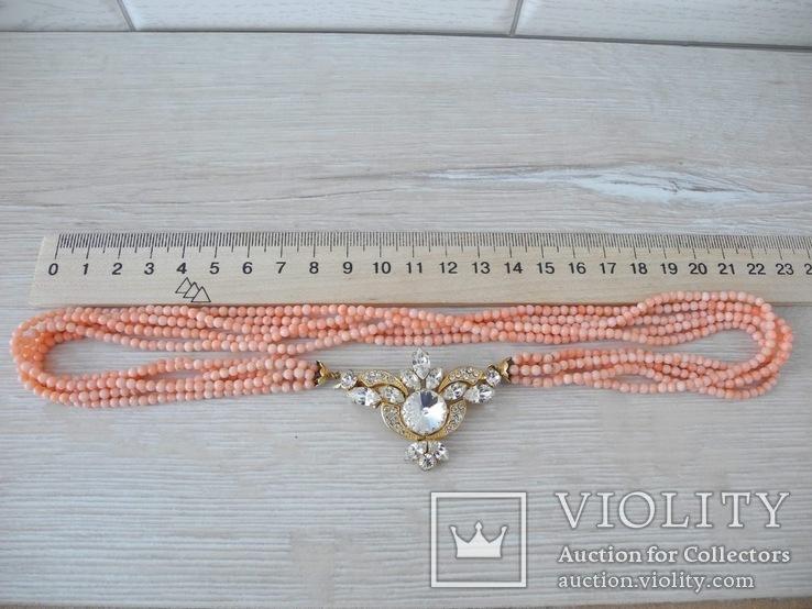 Ожерелье коралл Angel skin вес 34,4 гр, фото №9