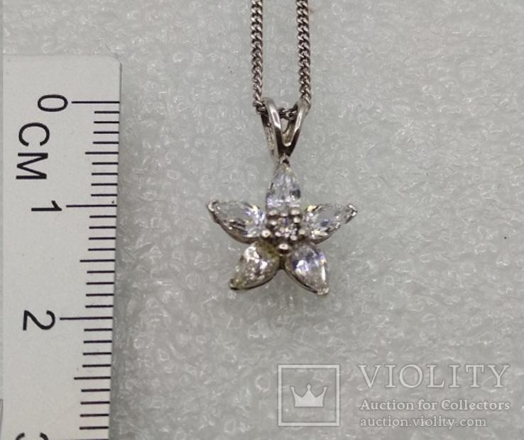 Цепочка с кулоном серебро 925, фото №4