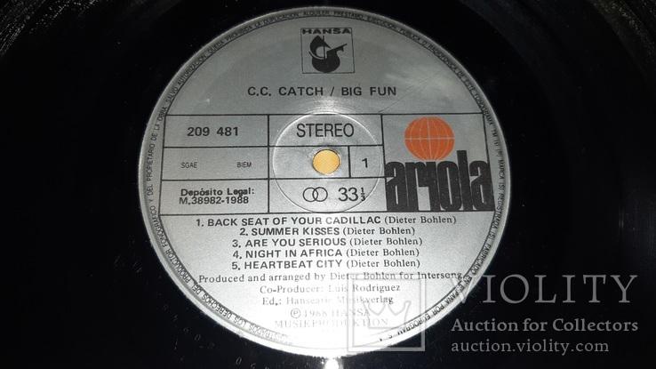 C.C. Catch (Big Fun) 1988. (LP). 12. Vinyl. Пластинка. Germany., фото №4