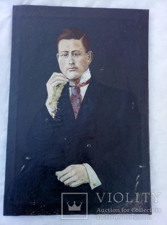 Портрет мужчин с подписью автора1911года