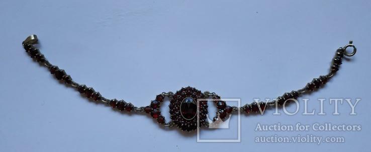 Старинный Гранатовый Гарнитур. Серебро, золото., фото №5
