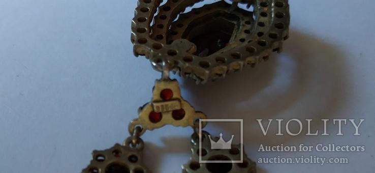 Старинный Гранатовый Гарнитур. Серебро, золото., фото №8