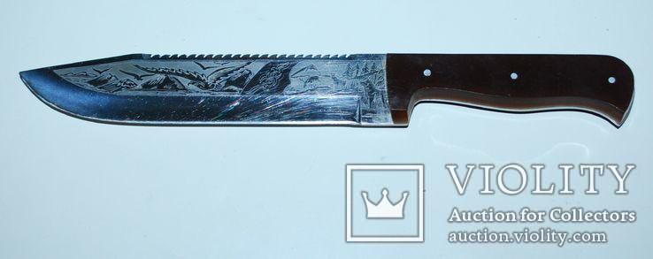 Нож ручной работы, гравировка - общ.разм. 30,5 см., фото №2